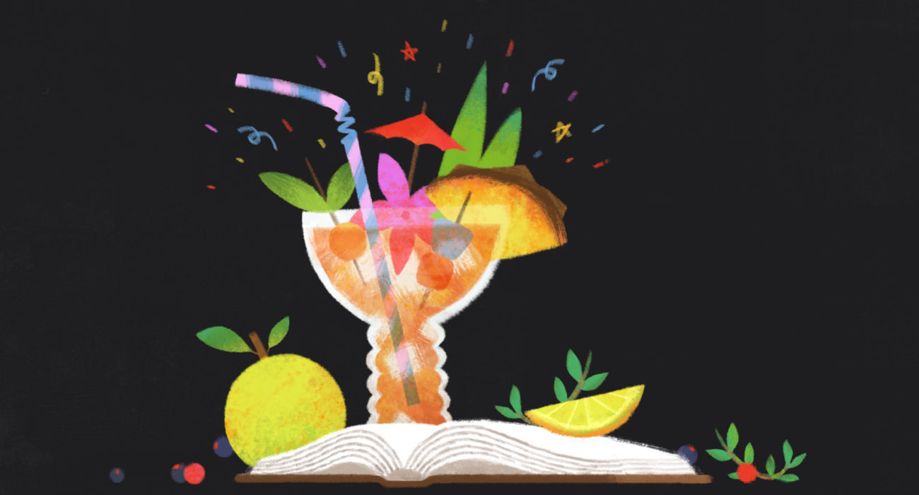 The bounty of a bar book. Illustration by Ileana Soon.