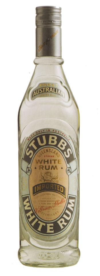 Stubbs White Rum bottle
