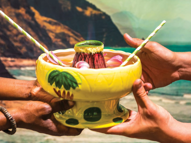The sharing of tiki. Photo by Noah Fecks.
