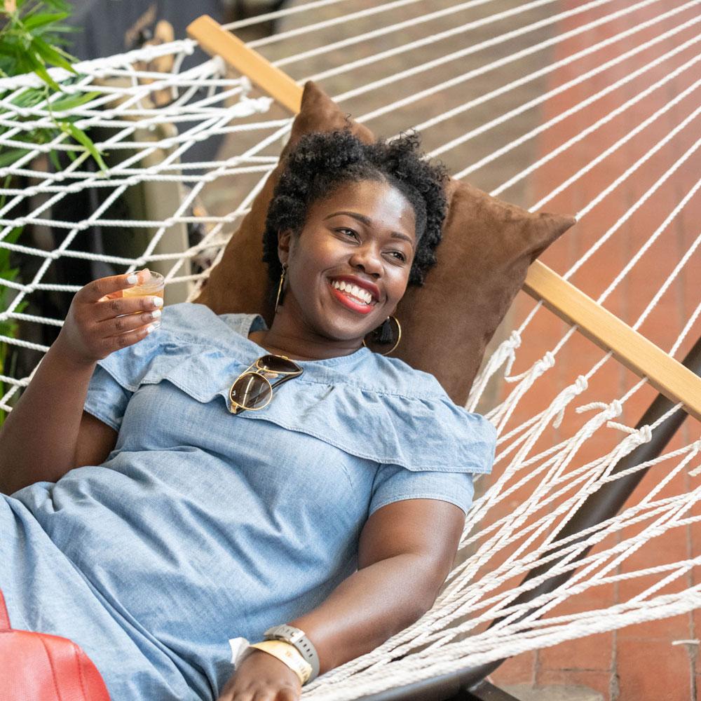 A hammock in Brooklyn