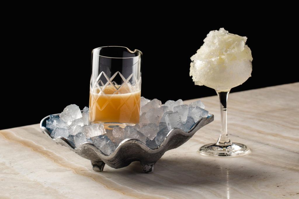 Three Dots' unusual shaved ice Daiquiri. Courtesy Lettuce Entertain You.