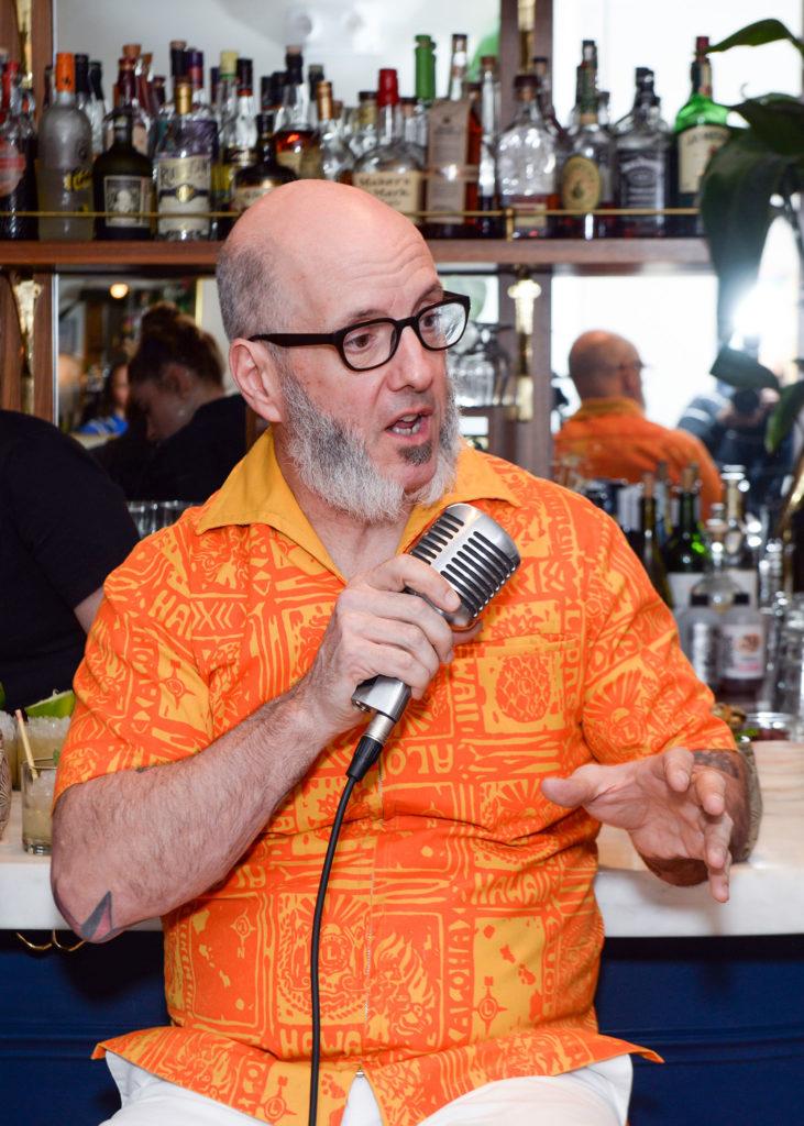 """""""Tiki"""" Adam speaks. Photo by Winston Rodney."""